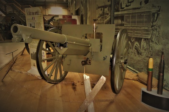 French 75 mm cannon