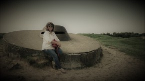 On a gun turrent at Fort Doaumont